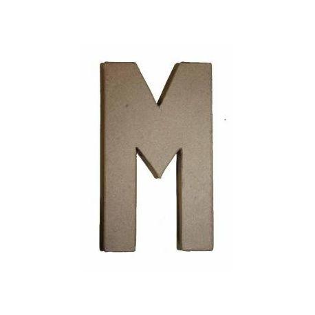 """Letra de cartón 20cm """"M"""""""