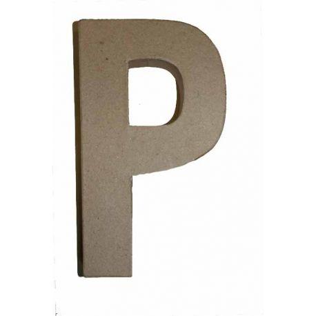"""Letra de cartón 10cm """"P"""""""