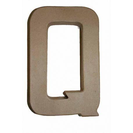 """Letra de cartón 10cm """"Q"""""""