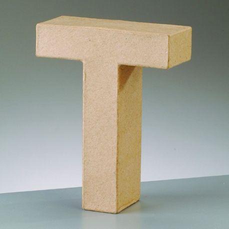 "Letra de cartón 10cm ""T"""