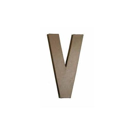 """Letra de cartón 10cm """"V"""""""