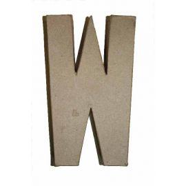 """Letra de cartón 10cm """"W"""""""