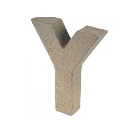 """Letra de cartón 10cm """"Y"""""""
