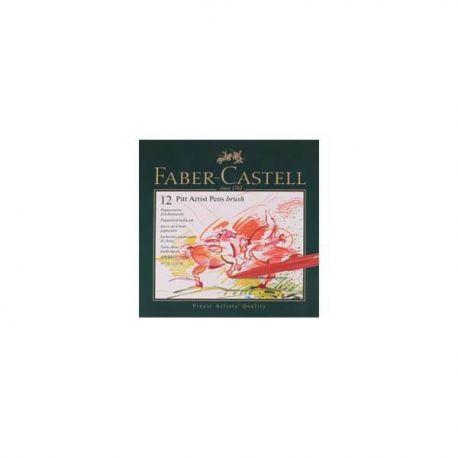 Set 12 rotuladores Pitt de Faber Castell