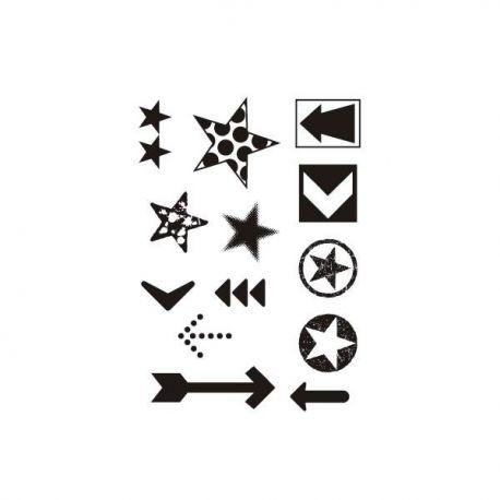 Sello Artis Decor Estrellas y Flechas A5