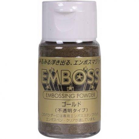 Polvos para embossing opacos EMBOSS Tsukineko 28gr Oro