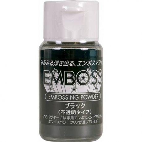 Polvos para embossing opacos EMBOSS Tsukineko 28gr Negro
