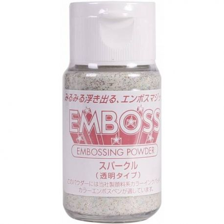 Polvos para embossing Transparentes EMBOSS Tsukineko 28gr Sparkle