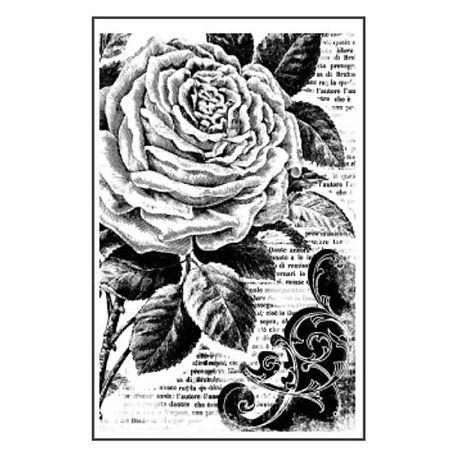 Sello de alta definición Rosa Stamperia