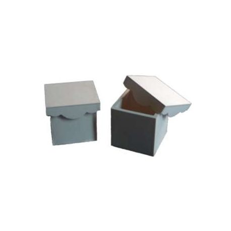 Caja cuadrada con tapa de ondas 23x23cm