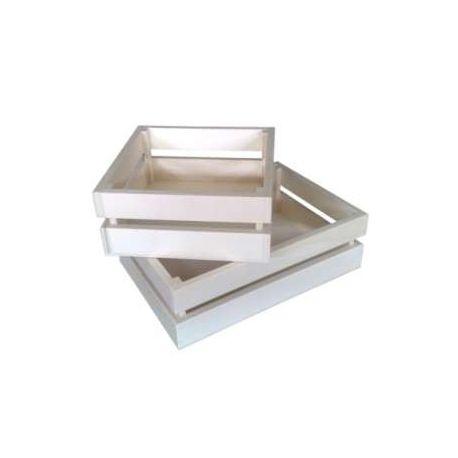 Caja cuadrada sin tapa
