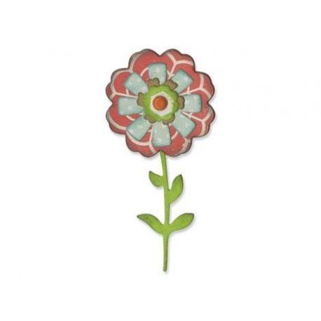 Troquel Sizzix THINLITS Flower layers & stem by Eileen Hull