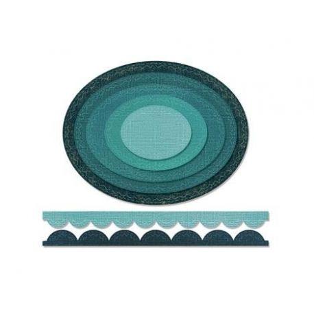 Troquel Sizzix THINLITS Stitched ovals  by Tim Holtz