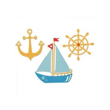 Sizzix set 3 troqueles THINLITS Shipmates by Emily Atherton