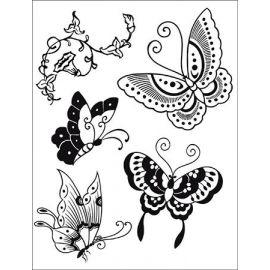 Sello de alta definición Mariposas Stamperia