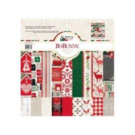 BoBunny Bloc papel Scrap 30,5x30,5cm Merry & Bright