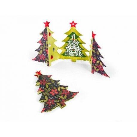 Set 6 troqueles THINLITS Card Christmas tree fold-a-long