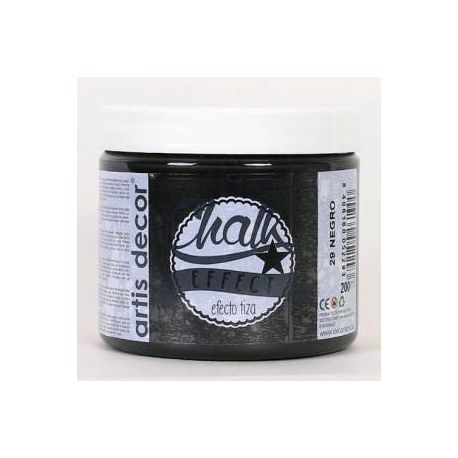 Pintura Chalk Artis Decor 29 Negro 200ml