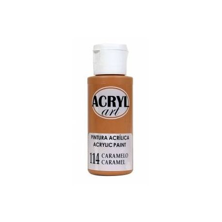 Pintura acrílica Acryl Art 114 Caramelo 60ml