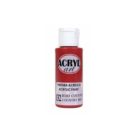 Pintura acrílica Acryl Art 132 Rojo Country 60ml