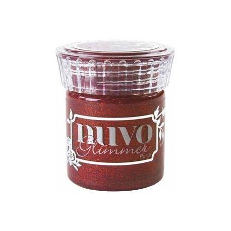 Glimmer paste de Nuvo Garnet Red de 50ml