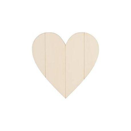 Corazón de madera para decorar de 25x25cm