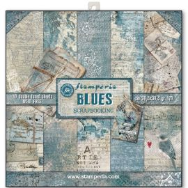 Bloc 10 hojas de papel Scrap Stamperia Blues