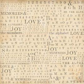 Papel de arroz 50x50 Abecedario, números y letras