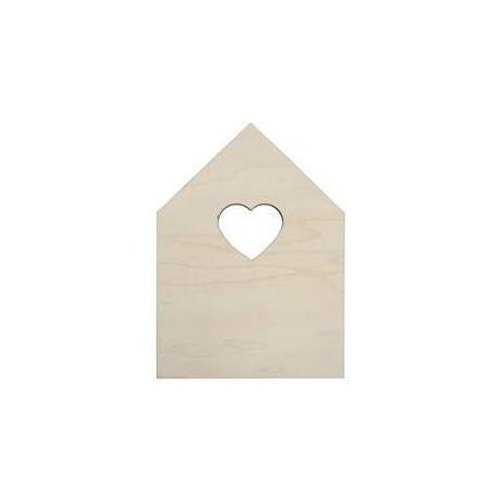 Casa de madera para decorar de 18x25cm