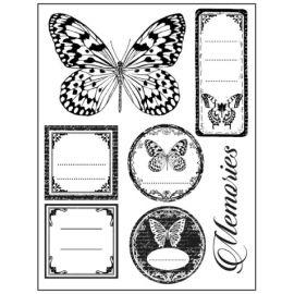 Sello de alta definición Mariposas y etiquetas Stamperia