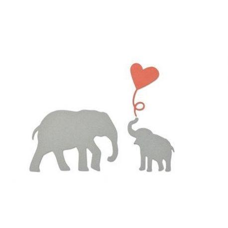 Set 3 troqueles Thinlits Baby elephant by Debi Potter