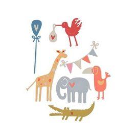 Set 7 troqueles Thinlits Baby animals by My life Handmade