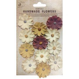 Little Birdie Set de 12 flores de 4cm Vintage nº41