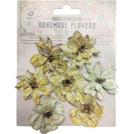 Little Birdie Set de 7 flores de 4cm Amarillas nº23