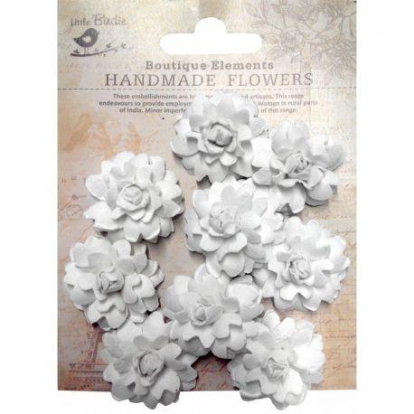 Little Birdie Set de 9 flores de 3cm Blancas nº39