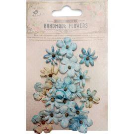 Little Birdie Set de 18 flores de 1.5cm y 2.5cm Azul nº18