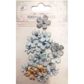 Little Birdie Set de 18 flores de 1.5cm y 2.5cm Gris nº18