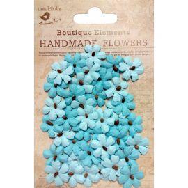 Little Birdie Set de 40 flores de 1.5cm Azules nº30