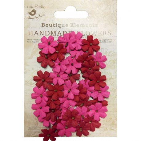 Little Birdie Set de 40 flores de 1.5cm  Rojas nº29