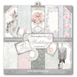 Bloc 10 hojas de papel Scrap Stamperia Wedding