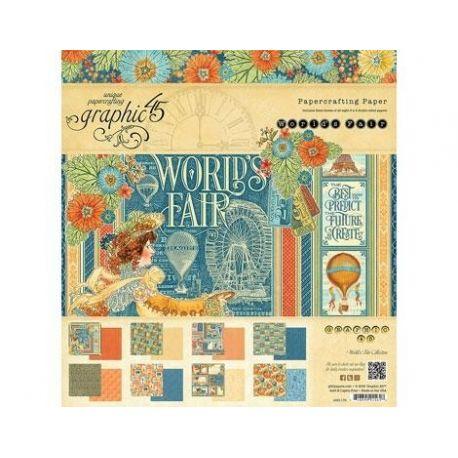 Bloc 24 papeles surtidos World's Fair the Sea de Graphic 45 30x30cm