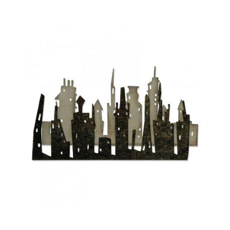 Troquel Sizzix THINLITS Cityscape skyline by Tim Holtz