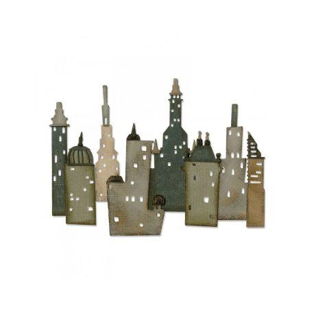Troquel Sizzix THINLITS Cityscape metropolis by Tim Holtz