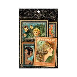 Tarjetas de papel surtidas Vintage Hollywood de Graphic 45 de 10x15cm