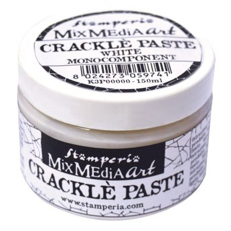Cracle Paste blanca de Stamperia 150ml