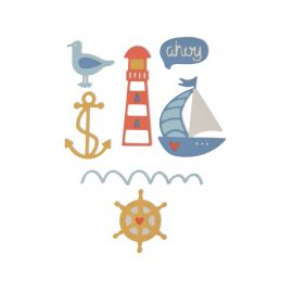 Sizzix set de 7 troqueles Thinlits nautical by my life Handmade