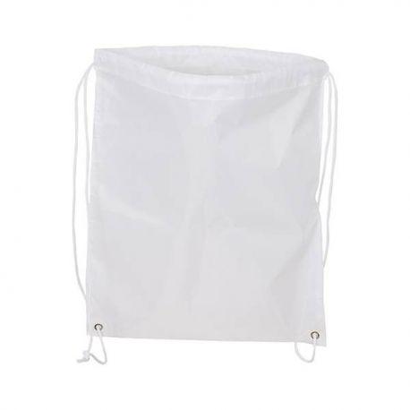 Mochila blanca con cordones para sublimación