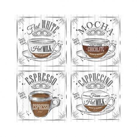 Papel sublimación 30x30cm White coffee