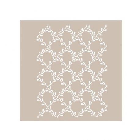 Stencil Cadence Textura floral AS412
