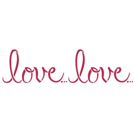 Stencil 38x15cm Love